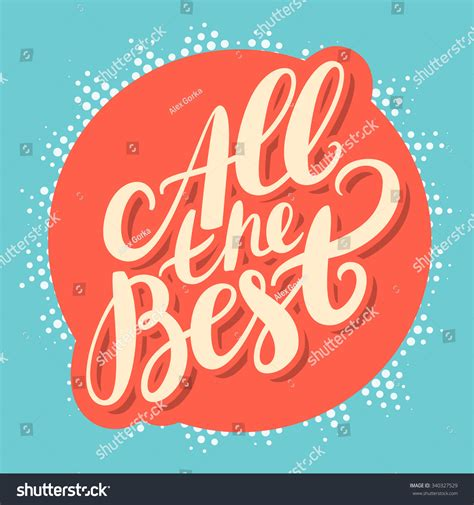 all the best all the best stock vector illustration 340327529