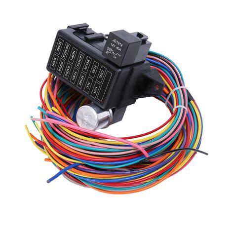 12 Circuit Basic Wire Harness Fuse Box Street Hot Rat Rod