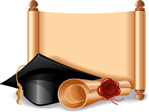 Free graduation scroll vector free vector download (1,132 ... Diploma Scroll Vector