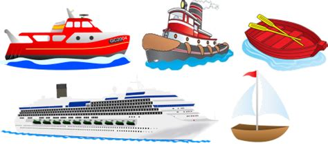 what rhymes with boat rhyme five little boats with clipart transportation
