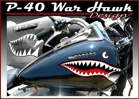 Aufkleber Honda Hawk by P 40 Warhawk Motorcycle Decals Motorcycle Vinyl Graphics