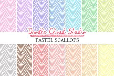 pastel pattern paper pastel scallops digital paper japanese patterns digital