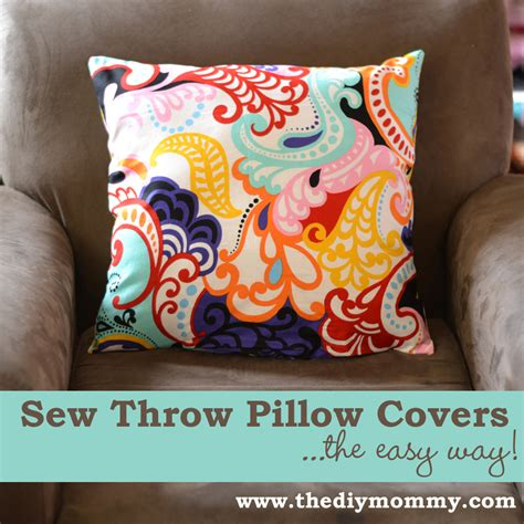 How To Sew A Throw Pillow by Sew A Throw Pillow Cover The Easy Way The Diy