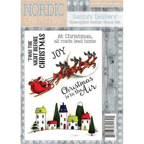 unmounted rubber st crafter s companion nordic santa s delivery