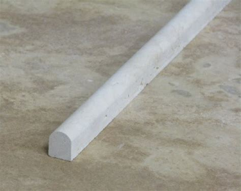 beige honed travertine pencil decorative molding bull nose
