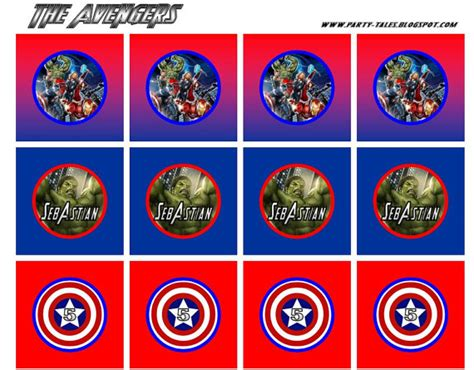 printable avengers labels 6 best images of avengers party printables free avengers