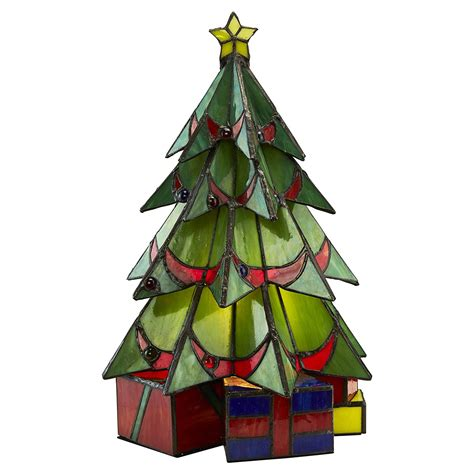 illuminated stained glass christmas tree sculpture so