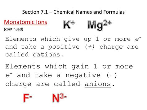 section 1 1 chemistry ppt chapter 7 chemical formulas and chemical compounds