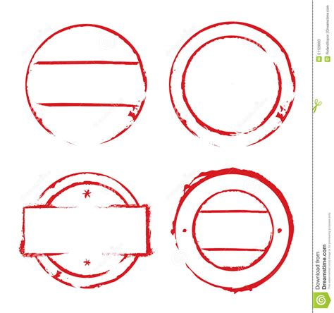 grunge design elements vector free red circles frames and grunge sts stock illustration