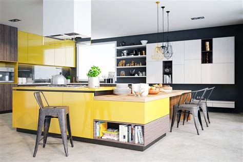 yellow kitchen design modern kitchen design ideas