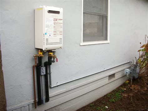 Water Heater Outdoor Ac noritz nr98 od tankless water heater outdoor model new gas line from meter copper water lines