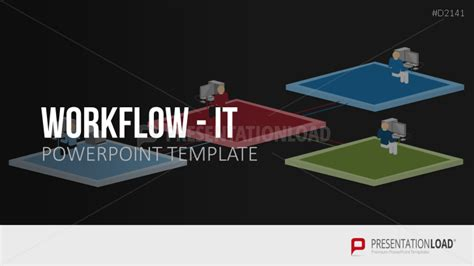 Information Technology Workflow Powerpoint Template Information Technology Powerpoint Templates
