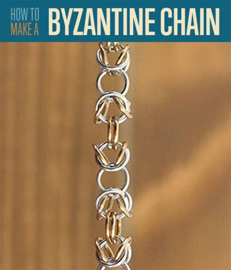 how to make chain how to make jewelry diy byzantine chainmaille weave