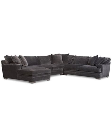 teddy fabric sectional living room from macys misc home teddy fabric 4 piece chaise sectional sofa furniture