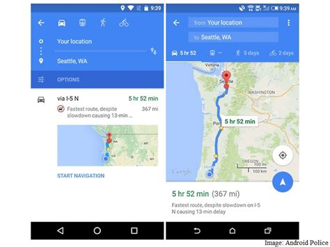 map apps for android maps for android update brings new navigation ui and more technology news