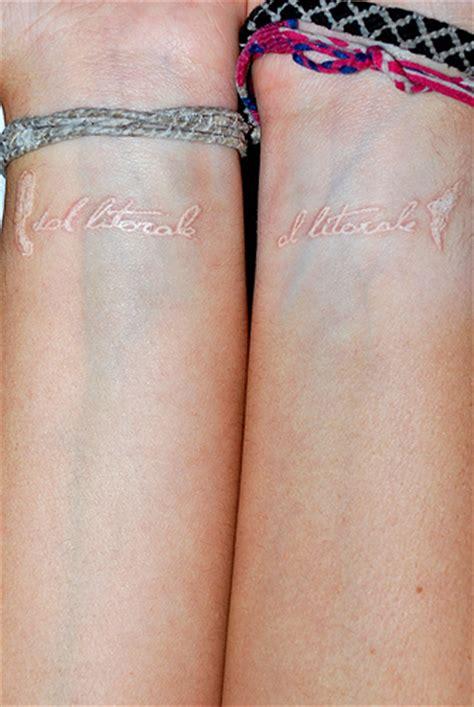 healed white ink tattoo white ink healed flickr photo