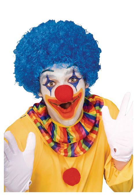 of a clown blue afro clown wig