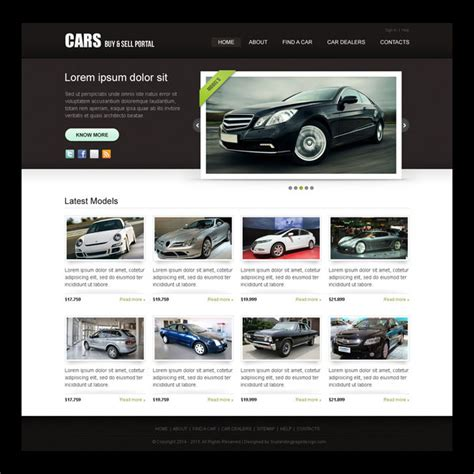 Clean And Attractive Car Selling Portal Website Template Design Psd Purchase Website Templates