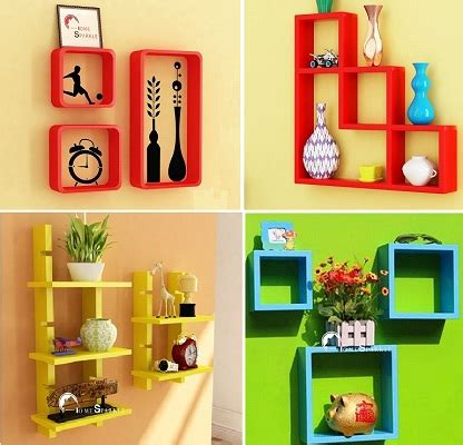 Online Drawing Room wall shelves for drawing room interior design