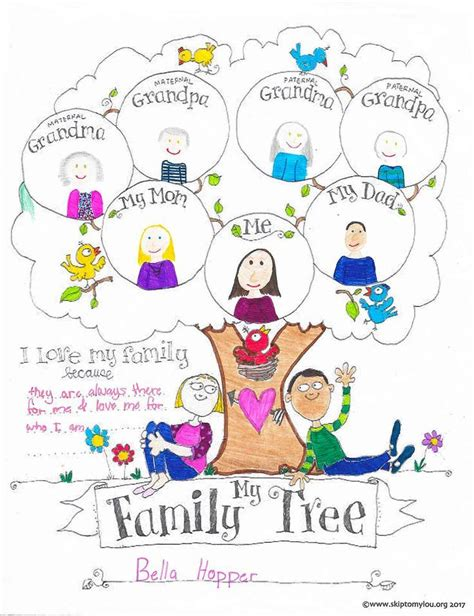 family tree template for kids free printable family tree coloring page free printables