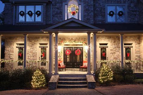 Wrap Around Porch Homes christmas decorations bower power