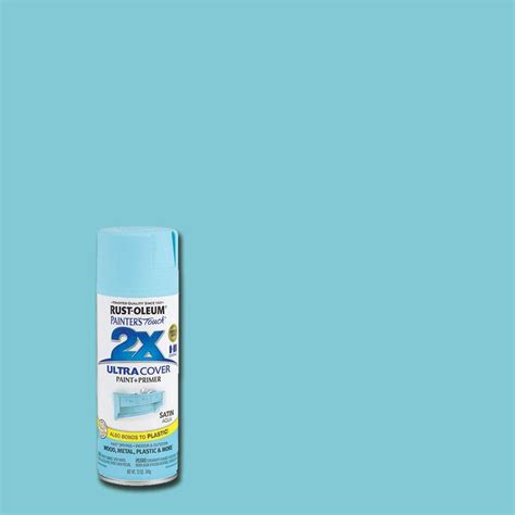 rust oleum painter s touch 2x 12 oz satin aqua general purpose spray paint 249085 the home depot