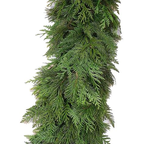 shop 20 ft fresh cedar christmas garland at lowes com
