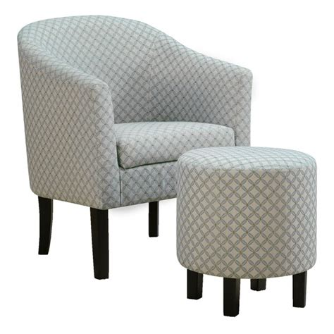 shop accent chair pcs set light blue geometric fabric  shipping today overstock