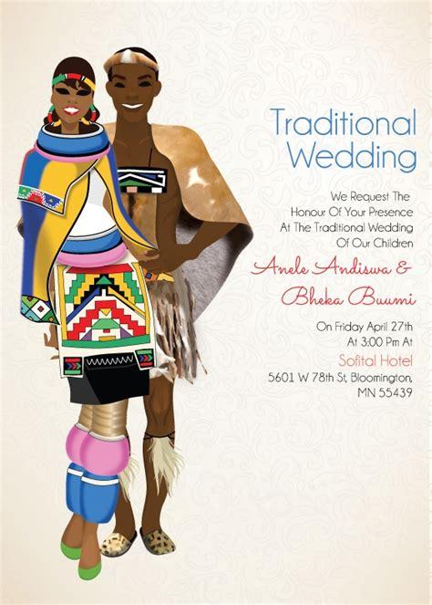Traditional Zulu Wedding Invitation Card by South Zulu Traditional Wedding Invitation Card