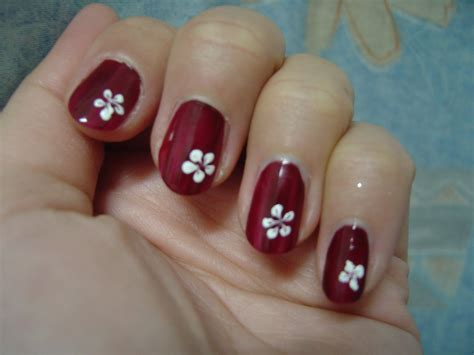simple flower nail easy nail