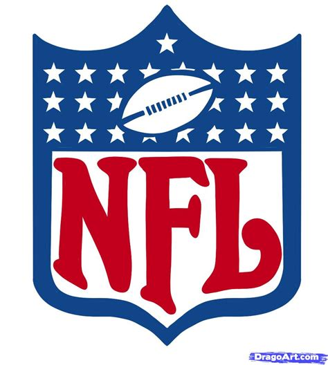 how to draw nfl nfl logo step by step sports pop
