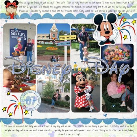 scrapbook layout with lots of pictures lots of photos disney scrapbooking ideas pinterest