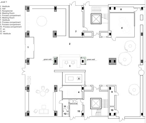 floor plan company office of technology company tseh architectural
