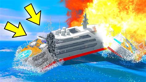 how to blow up the boat in gta 3 can 100 explosions blow up the yacht in gta 5 youtube