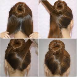 Adorable diy criss cross hair bun updo 1 year ago by fiyaa in diy hair