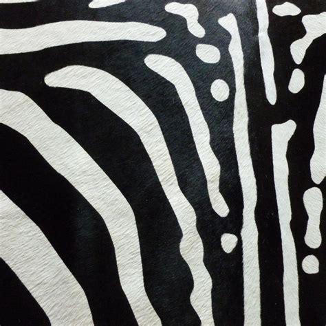Black And White Zebra Cowhide Rug Black White Stenciled Zebra Cowhide Rug
