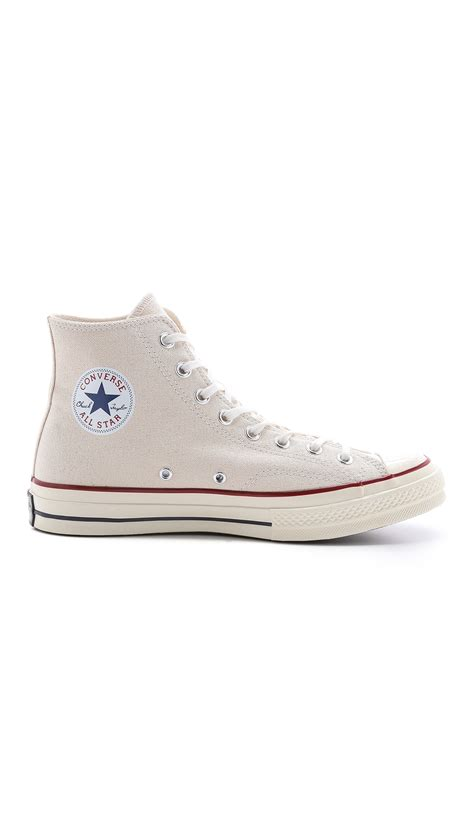 converse all high top sneakers converse all 70s high top sneakers in silver for