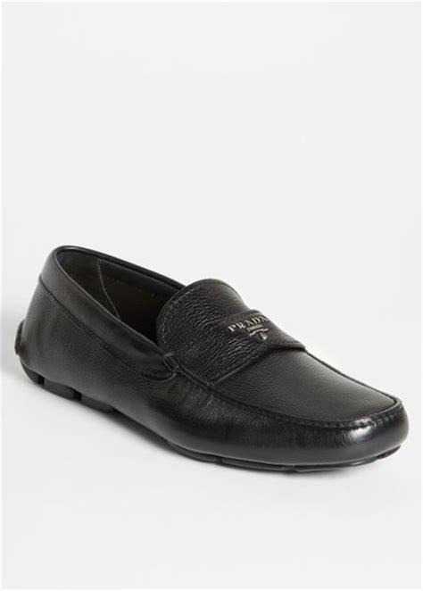 prada driving shoes prada driving shoes in black for black black lyst