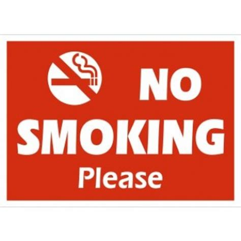 no smoking sign dimensions a4 sign no smoking please