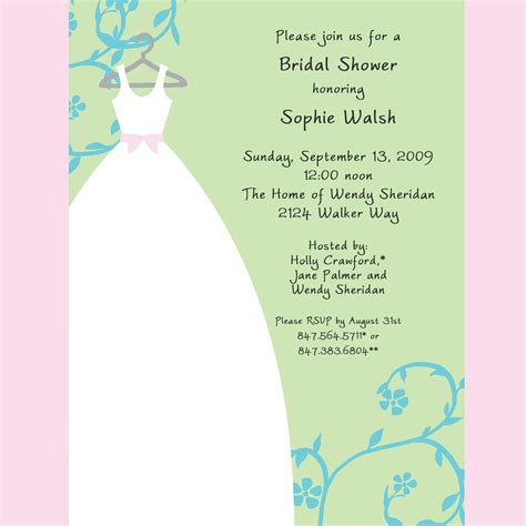 bridal shower bridal shower invitation wording card