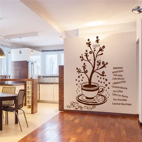 wall sticker outlet free shipping big tree vinyl wall decal coffee shop