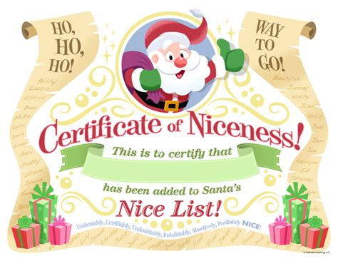 santa certificate template free printable template list certificates