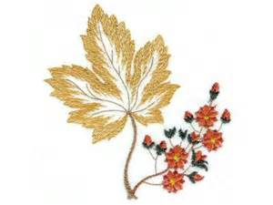 free fall machine embroidery designs machine embroidery designs 5x7 autumn leaves set