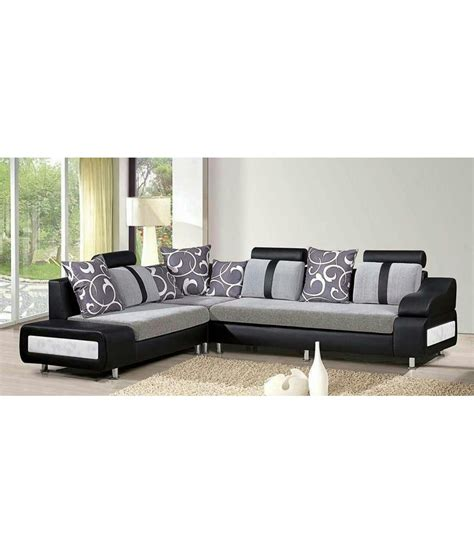 Sofa Price List In India by Godrej 3 Luxury Black 7 Seater Sofa Buy Godrej 3