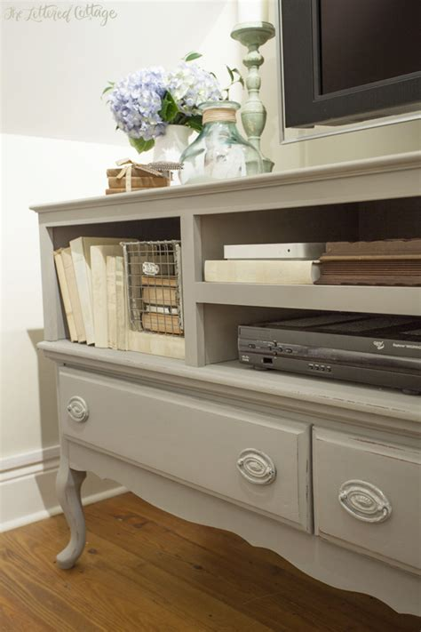chalk paint tv cabinet the credenza turned tv stand is painted with sloan s