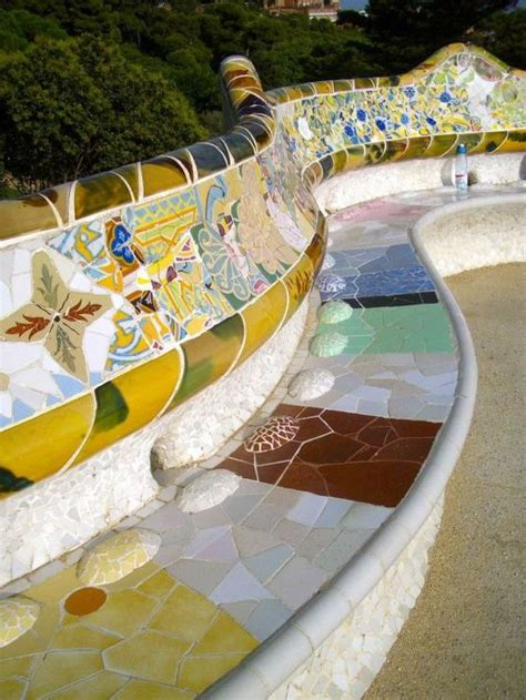 park guell bench dr who europe and therapy on pinterest