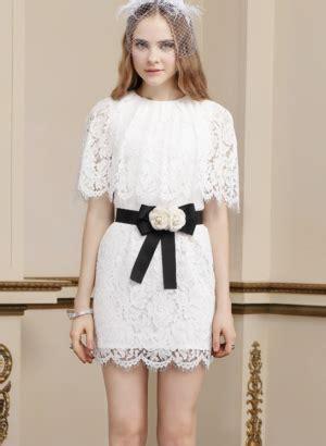Caq Konbanwa Minidress lace skirt with bowtie