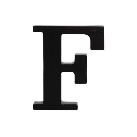 a the letter wooden letter f black
