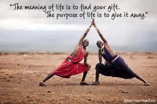 The meaning of life is to find your gift tthe purpose of life is to