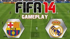 fifa 14 gameplay   barcelona vs real madrid   youtube